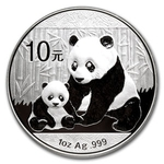 2012 1 Ounce Silver Chinese Panda Coin In Capsule