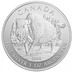 2013 1 oz Canadian Silver Wood Bison Coin Wildlife Series
