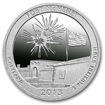 2013 5 oz Silver ATB Fort McHenry National Park Maryland