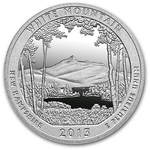 2013 5 oz Silver ATB White Mountain National Park New Hampshire