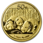 2013 1/10 Ounce Chinese Gold Panda Coin Sealed