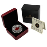 2013 1 oz Canada Silver Maple Leaf Impression Enameled Proof Coi