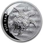 2013 1 oz Silver New Zealand Mint $2 Fiji Taku .999 Fine Silver