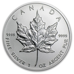 2013 1 Oz Canadian Silver Maple Leaf Coin 9999 Silver