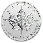 2013 1 oz Platinum Canadian Maple Leaf Coin