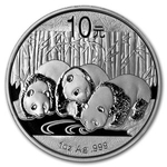 2013 1 Ounce Silver Chinese Panda Coin In Capsule