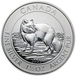 2014 1.5 oz Silver Canadian $8 Arctic Fox Coin