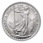 2014 1 oz Silver Britannia Coin Brilliant Uncirculated