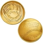 2014 National Baseball Hall of Fame Proof $5 Gold Coin