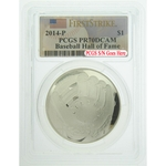 2014 P $1 Baseball Hall Of Fame Silver Proof PCGS PR70DCAM FS