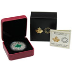 2014 1 oz Canada Silver Maple Leaf Impression Enameled Proof Coi