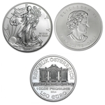 2014 Silver Coins 3 Different Coins From Around The World