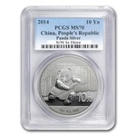 2014 1 oz Silver Chinese Panda Coin PCGS MS-70