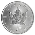 2014 1 Oz Canadian Silver Maple Leaf Coin 9999 Silver