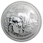 2014 1 oz Silver Australian Year of the Horse Coin