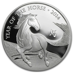 2014 1 oz United Kingdom Silver Lunar Year of the Horse Coin BU