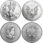 2015 American Eagle & Canadian Maple Leaf Silver 2 Coin Combo