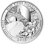 2015 5 oz Silver ATB Blue Ridge Parkway National Park NC