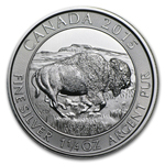 2015 Canadian $8 1.25 oz Silver Bison Coin BU