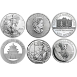 2015 Silver Coins 6 Coins From Around The World