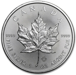 2015 1 oz Canadian Silver Maple Leaf Coin 9999 Silver