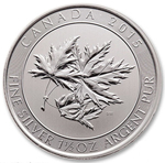 2015 1.5 oz Canadian Silver Maple SUPER LEAF Coin 9999 Silver