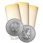 2015 1 oz Canadian Silver Maple Leaf Roll Of 25 Coins
