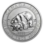 2015 1.5 oz Silver Canadian $8 Polar Bear & Cub