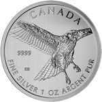 2015 1 oz Silver Birds of Prey Series Great Horned Owl Coin