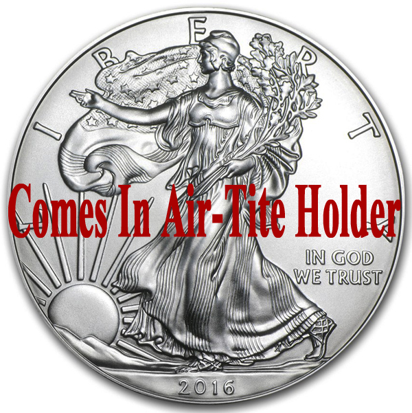 2016 1 oz American Silver Eagle Coin BU - AIR-TITE Holder
