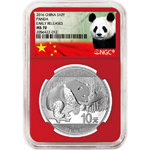 2016 China 30 gram Silver Panda Coin NGC MS-70 ER