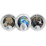 2016 Discovery Channel Endangered Species Africa 2 Coin Set