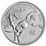 2016 Great Britain 1 oz Silver Year of the Monkey BU
