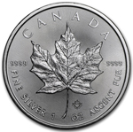 2016 1 oz Canadian 9999 Silver Maple Leaf Coin