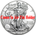 2017 1 oz American Silver Eagle Coin BU - AIR-TITE