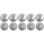 Lot of 10 Silver Coins - 2017 American Eagles & Canadian Maples