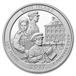 2017 5 oz Silver ATB Ellis Island National Monument Ships 9/7