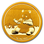 2017 1 Grams Chinese Gold Panda Coin 10 Yuan BU Sealed