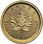 2017 1/20th oz Canadian Gold Maple Leaf Coin