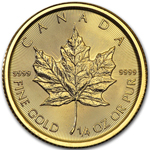 2017 1/4 oz Canadian Gold Maple Leaf Coin