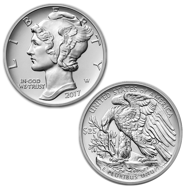 2017 1 oz Palladium American Eagle BU