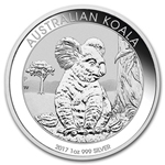2017 1 oz Silver Australian Koala Coin BU Ships Jan 24th