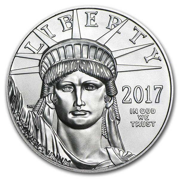 2017 1 oz Platinum American Eagle Coin BU