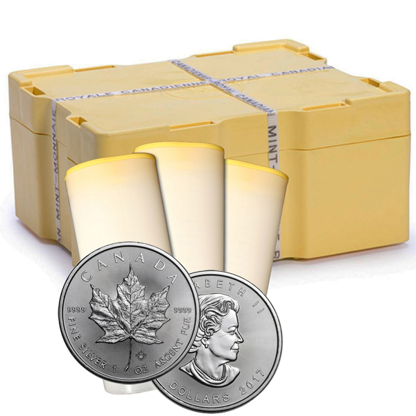 2017 1 oz Canadian Silver Maple Leaf 500 Coin Sealed Box