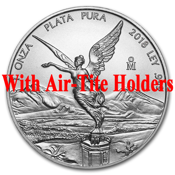 2018 1 oz Mexican Silver Libertad Coin BU - Air-Tite Holders