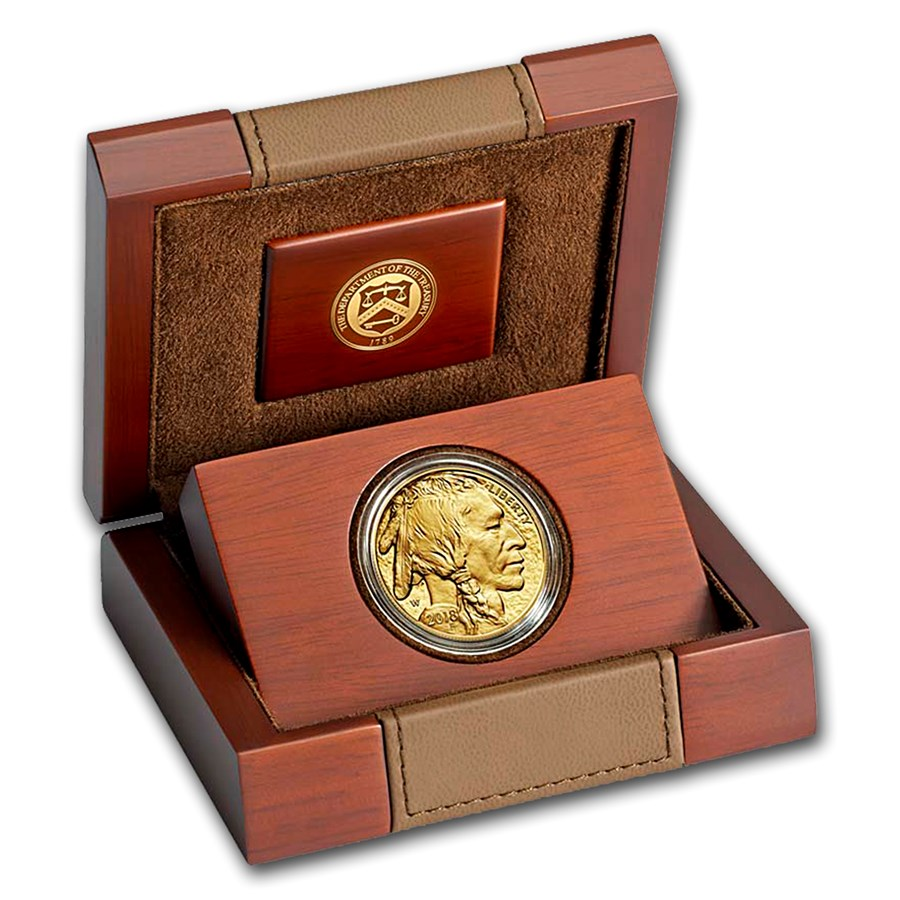 2018-W 1 oz Proof Gold Buffalo With Box & COA