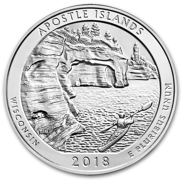 2018 5 oz Silver ATB Apostle Islands National Lakeshore, WI