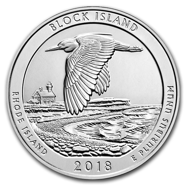 2018 5 oz Silver ATB Block Island National Wildlife Refuge, RI