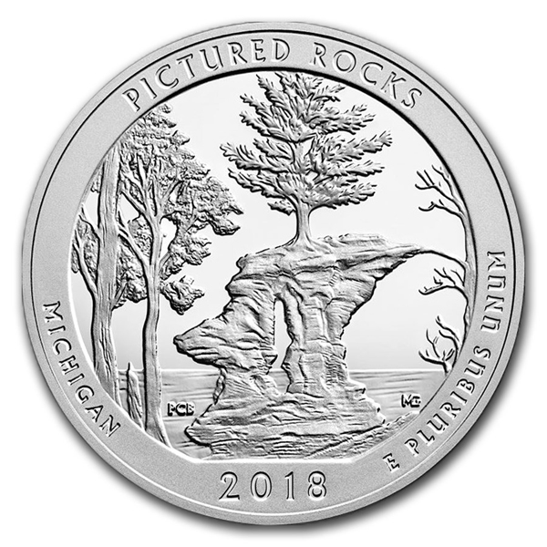 2018 5 oz Silver ATB Pictured Rocks National Lakeshore MI