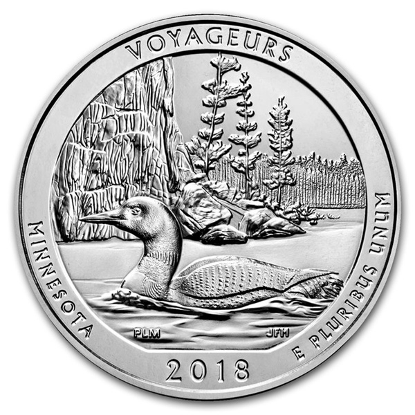 2018 5 oz Silver ATB Voyageurs National Park, MN Ships June 29